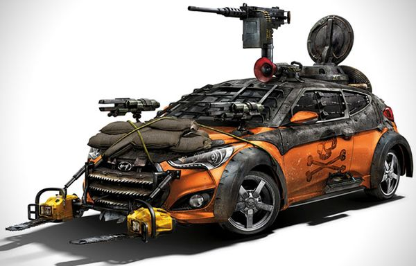 Hyundai's Veloster Zombie Survival Machine