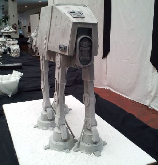 Incredibly detailed two foot tall AT-AT Cake
