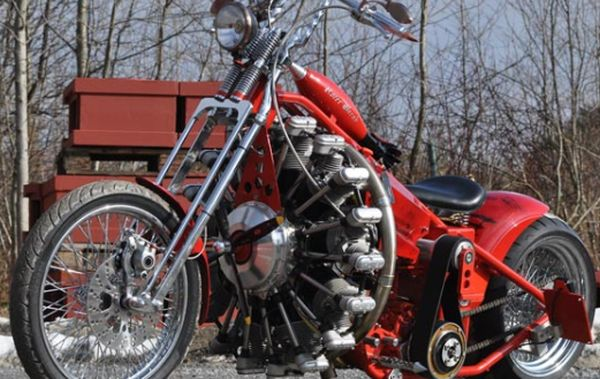 Sternmotorbike: Bike With Aircraft Engine